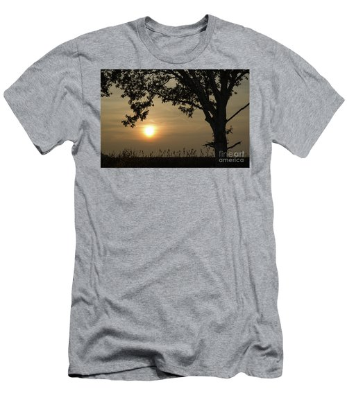 Lonely Tree At Sunset Men's T-Shirt (Slim Fit) by Kennerth and Birgitta Kullman