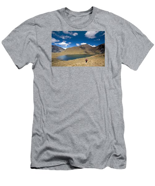 Lonely Walker At Punta Union Men's T-Shirt (Athletic Fit)