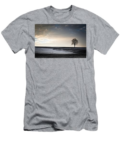 Lonesome Tree On A Hill IIi Men's T-Shirt (Slim Fit) by David Sutton