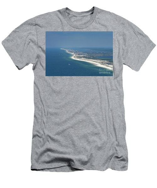 Long, Aerial, Beach View Men's T-Shirt (Athletic Fit)