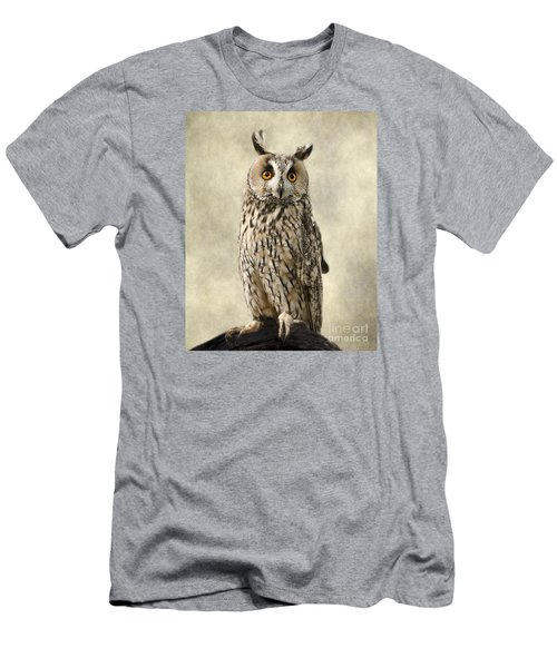 Long Eared Owl Men's T-Shirt (Slim Fit) by Linsey Williams