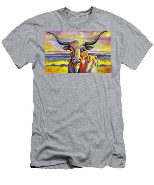 Long Horn At Sunset Men's T-Shirt (Athletic Fit)