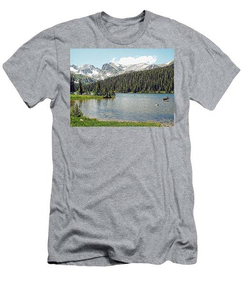 Men's T-Shirt (Slim Fit) featuring the photograph Long Lake Splender by Joseph Hendrix
