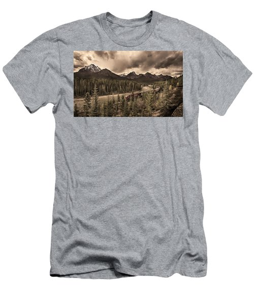 Men's T-Shirt (Slim Fit) featuring the photograph Long Train Running by John Poon