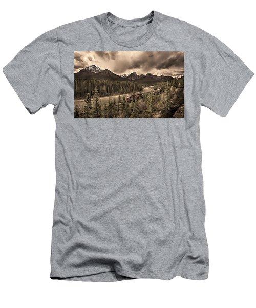 Long Train Running Men's T-Shirt (Athletic Fit)