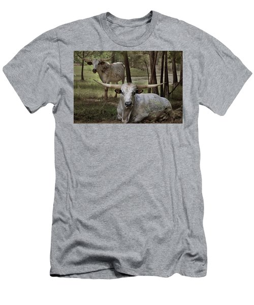 Longhorns On The Watch Men's T-Shirt (Athletic Fit)