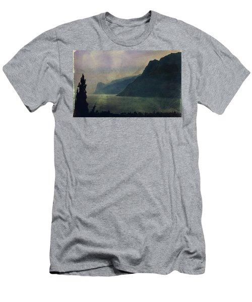 Looking At The Lake... Men's T-Shirt (Slim Fit) by Vittorio Chiampan