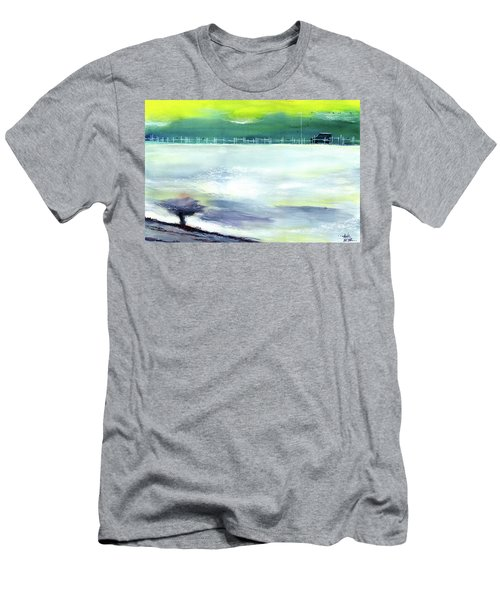 Men's T-Shirt (Slim Fit) featuring the painting Looking Beyond by Anil Nene
