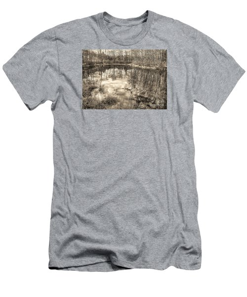 Men's T-Shirt (Slim Fit) featuring the photograph Looking Down by Betsy Zimmerli