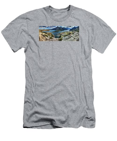 Looking Down On Waterton Lakes Men's T-Shirt (Athletic Fit)
