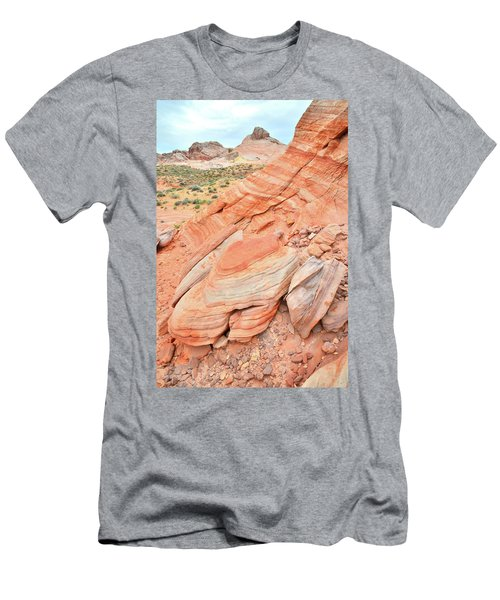Men's T-Shirt (Slim Fit) featuring the photograph Looking South In Valley Of Fire by Ray Mathis