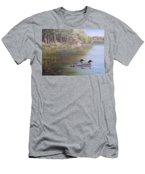 Loon Family 1 Men's T-Shirt (Athletic Fit)