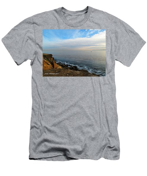 Men's T-Shirt (Slim Fit) featuring the photograph Los Angeles Sunset by Joan  Minchak
