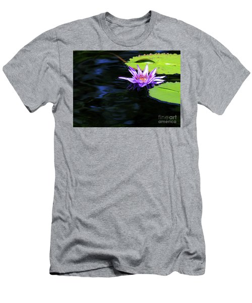 Lotus And Dark Water Refection Men's T-Shirt (Athletic Fit)