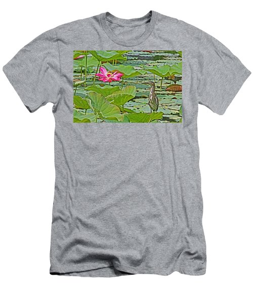 Lotus Blossom And Heron Men's T-Shirt (Athletic Fit)