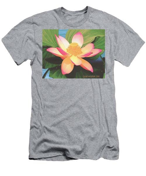 Men's T-Shirt (Slim Fit) featuring the painting Lotus Flower by Sophia Schmierer