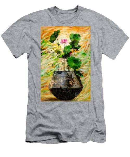 Lotus Tree In Big Jar Men's T-Shirt (Athletic Fit)
