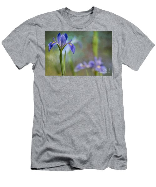 Men's T-Shirt (Slim Fit) featuring the photograph Louisiana Iris by Bonnie Barry