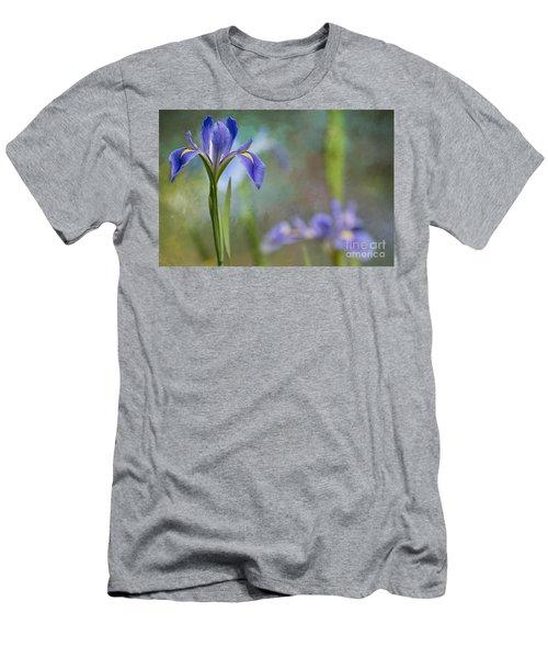 Louisiana Iris Men's T-Shirt (Slim Fit) by Bonnie Barry
