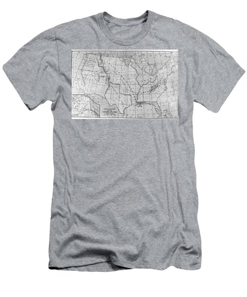 Louisiana Purchase Map Men's T-Shirt (Athletic Fit)