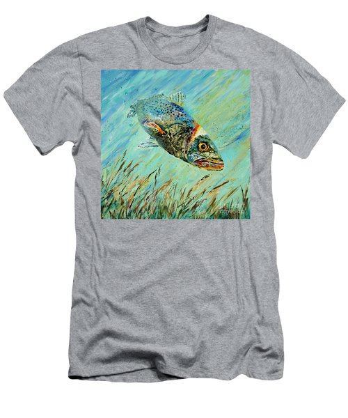 Men's T-Shirt (Slim Fit) featuring the painting Louisiana Speckled by Dianne Parks