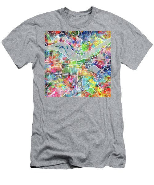 Louisville Kentucky City Map 4 Men's T-Shirt (Athletic Fit)