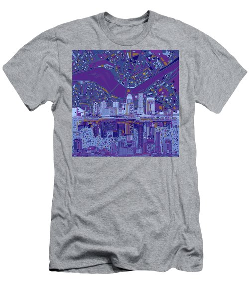Louisville Kentucky Skyline Abstract 12 Men's T-Shirt (Athletic Fit)