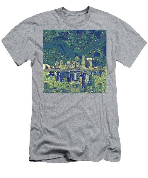 Louisville Kentucky Skyline Abstract 6 Men's T-Shirt (Athletic Fit)