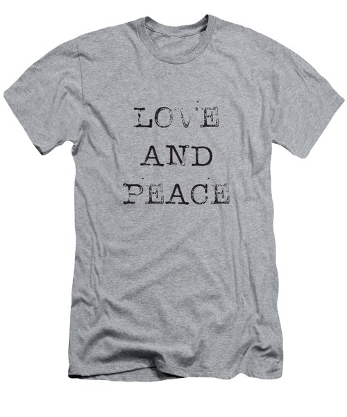 Love And Peace Men's T-Shirt (Athletic Fit)