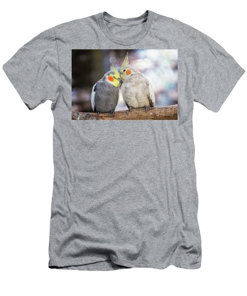 Love Birds Men's T-Shirt (Slim Fit) by Stephanie Hayes