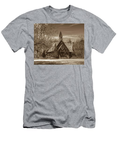 Love Chapel In Sepia Men's T-Shirt (Athletic Fit)