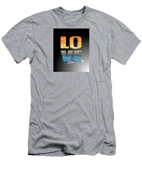 Love Door County Men's T-Shirt (Athletic Fit)