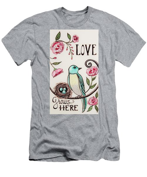 Love Grows Here Men's T-Shirt (Athletic Fit)