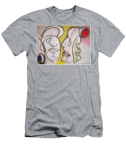 Love In Between Men's T-Shirt (Athletic Fit)