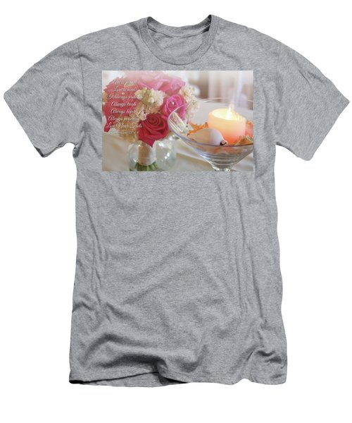 Men's T-Shirt (Athletic Fit) featuring the photograph Love Never Fails by Trina Ansel