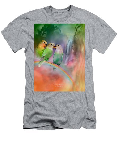 Love On A Rainbow Men's T-Shirt (Athletic Fit)