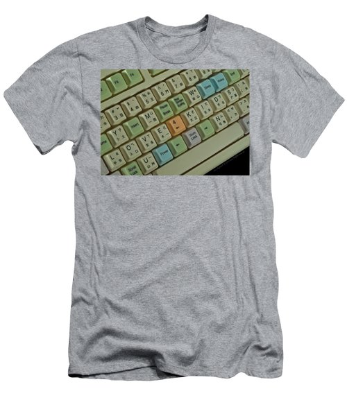 Love Puzzle Keyboard Men's T-Shirt (Athletic Fit)