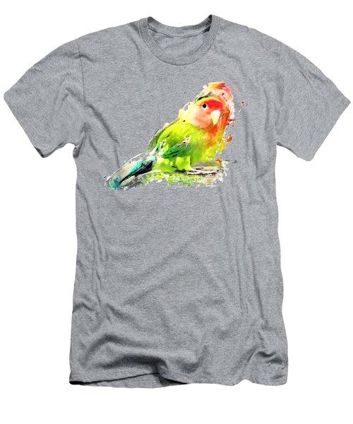 Lovebird Watercolor Painting Men's T-Shirt (Slim Fit)