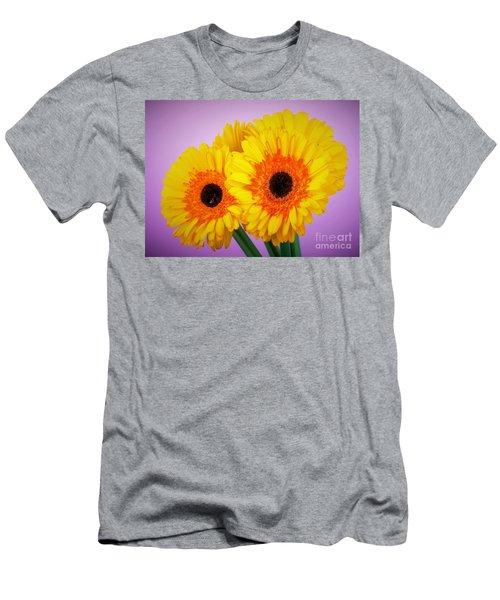 Lovely And Beautiful - Gerbera Daisies Men's T-Shirt (Slim Fit) by Ray Shrewsberry