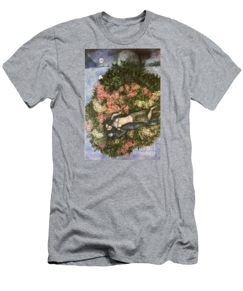 Lovers In The Lilacs Men's T-Shirt (Slim Fit) by Marc Chagall