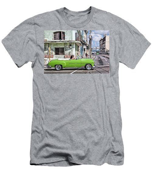 Men's T-Shirt (Athletic Fit) featuring the photograph Lovin' Lime Green Chevy by Gigi Ebert