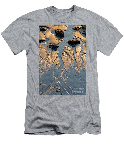 Low Tide Flow, Kettle Cove, Cape Elizabeth, Maine  -66557 Men's T-Shirt (Athletic Fit)