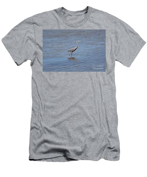 Men's T-Shirt (Slim Fit) featuring the photograph Low Tide Stroll by Carol  Bradley