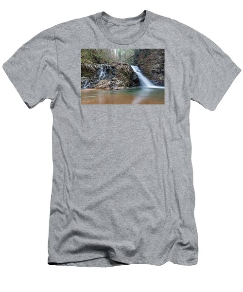 Lower Brasstown Falls Men's T-Shirt (Athletic Fit)