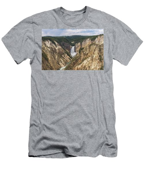 Lower Falls Of The Yellowstone Men's T-Shirt (Athletic Fit)
