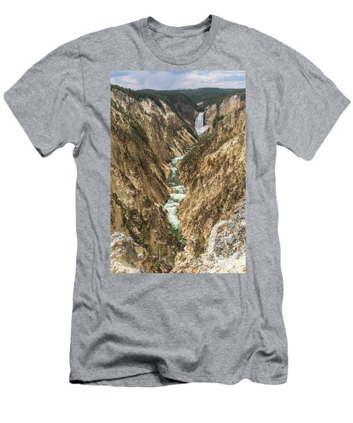 Lower Falls Of The Yellowstone - Portrait Men's T-Shirt (Athletic Fit)