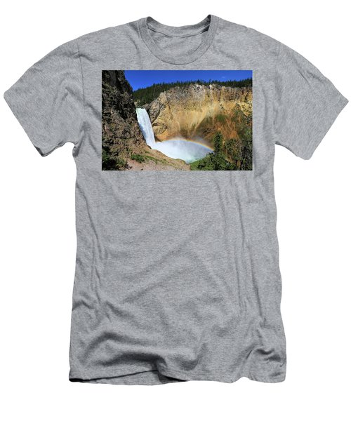 Lower Falls With A Rainbow Men's T-Shirt (Athletic Fit)