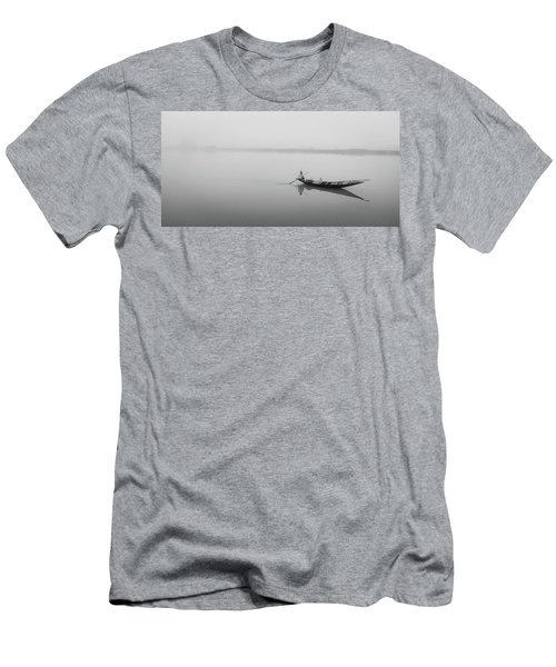 Men's T-Shirt (Athletic Fit) featuring the photograph Lower Ganges - Misty Morinings by Chris Cousins