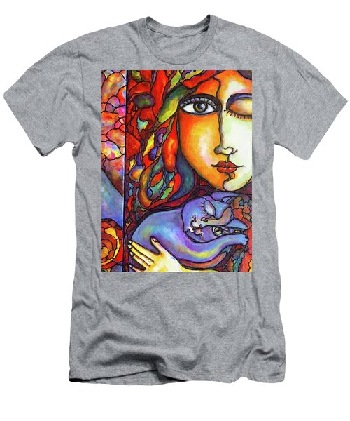 Men's T-Shirt (Slim Fit) featuring the painting Lucid Dreams by Rae Chichilnitsky
