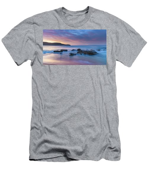 Luminescent Sunrise Seascape Men's T-Shirt (Athletic Fit)